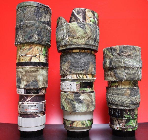 レンズ 保護&カモフラージュ EF456