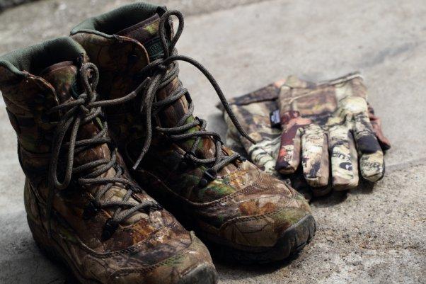 モッシーオーク (Mossy Oak)  靴&手袋 両方ともゴアテックス