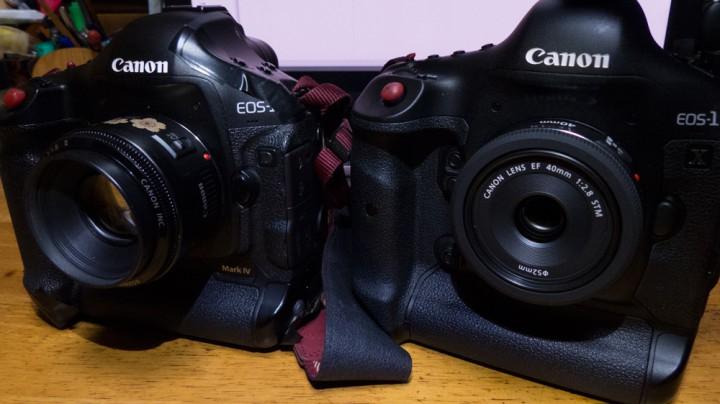 左EF50mm F1.8 II 右EF40mm F2.8 STM