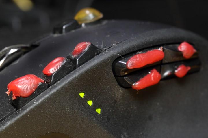 マウスのボタンも