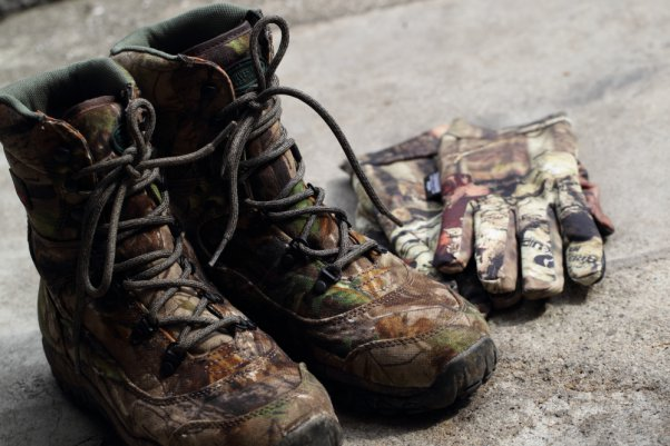 Mossy Oak 靴と手袋